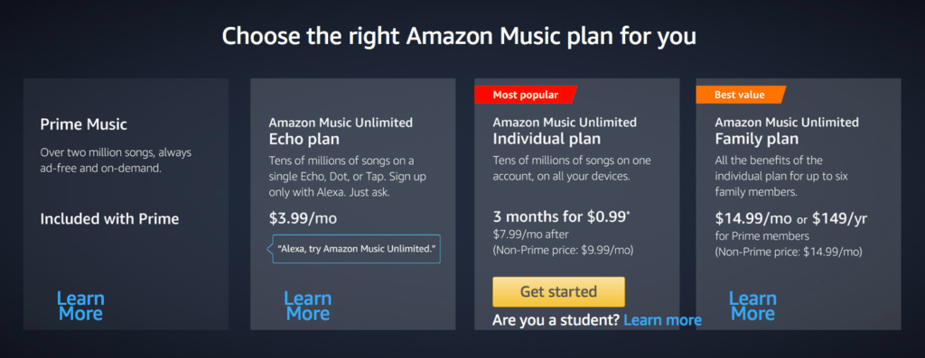 Amazon Music Unlimited Plans Digital Addicts Ask Alexa