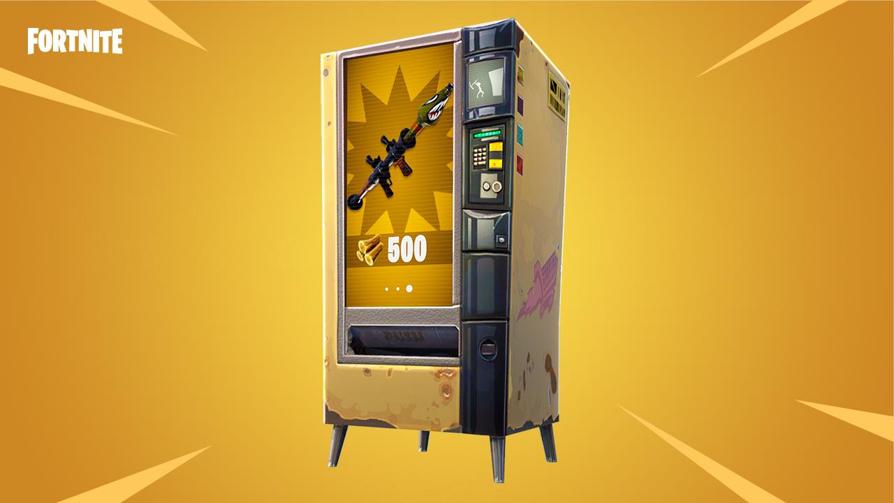 Latest Fortnite Battle Royale Update Adds   Vending Machines!