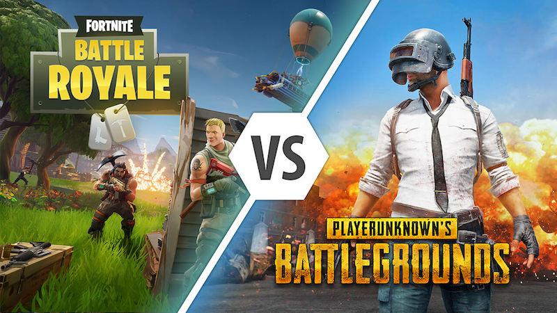 pubg vs fortnite the real battle royale