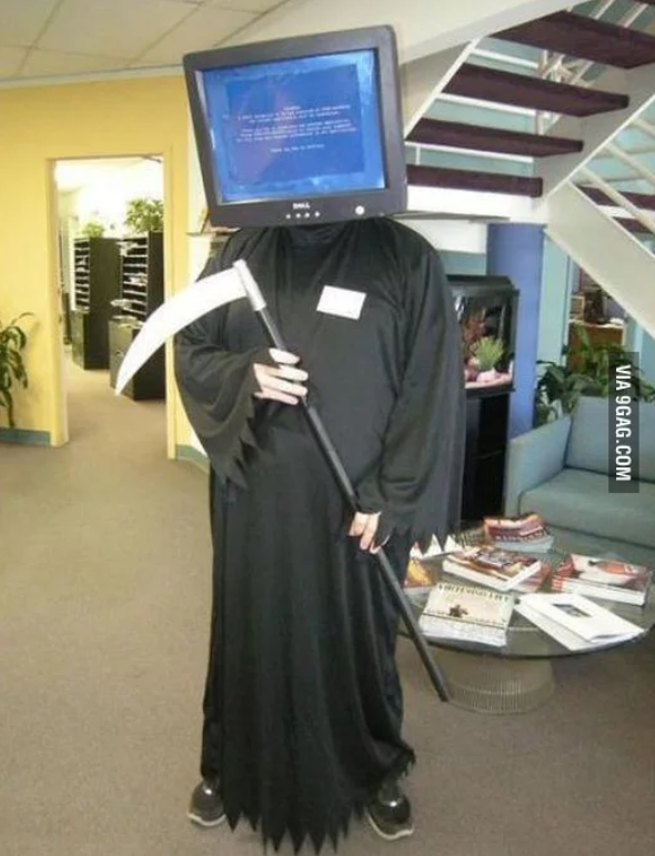 Digital Addicts Halloween Costumes Blue Screen of Death